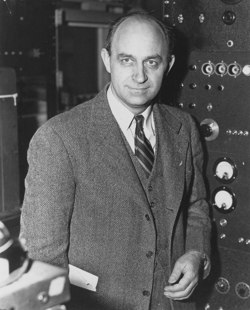 a portrait of Enrico Fermi from the Manhattan Project