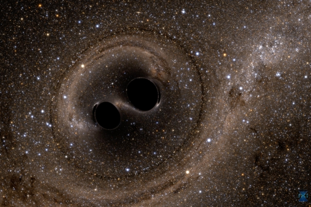 Two Black Holes Colliding